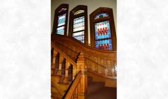 Stained Glass Windows on Staircase